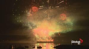 Team UK's firework performance lights up smokey Vancouver sky