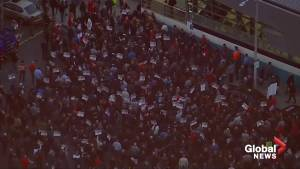 Firefighters join striking teachers in Los Angeles