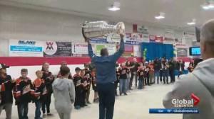 Berube brings Stanley Cup to Calahoo