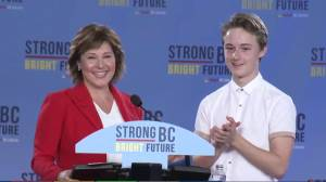 BC Election: Christy Clark thanks son Hamish