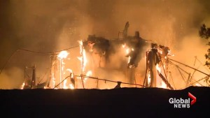 Hotel collapses as deadly wildfires torch California