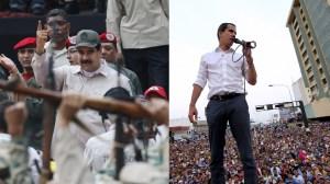 Venezuela's Maduro orders militia expansion as Guaido tours blackout-ravaged state