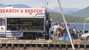 Search for three people after boat capsizes off Tofino