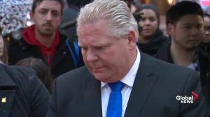 Ontario PC Party leader Doug Ford lays flowers at vigil for Toronto van attack