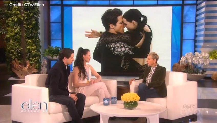 Tessa Virtue And Scott Moir Address Dating Rumours On 'Ellen'