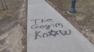 The principal of Queen's University is calling it a hate crime; graffiti found on campus