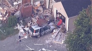 Homes in pieces, debris strewn across cars after explosions rock Massachusetts towns
