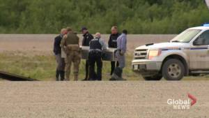 RCMP load bodies believed to be B.C. murder suspects onto planes to Winnipeg for autopsies