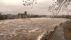 Water levels in Ottawa remain high but are slowly receding