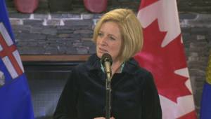 Notley addresses reporters after meeting PM, federal cabinet in Kananaskis