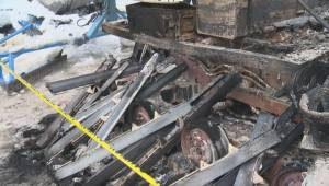 Devastating fire destroys vital piece of snowmobile trail-grooming equipment near Kelowna (02:11)