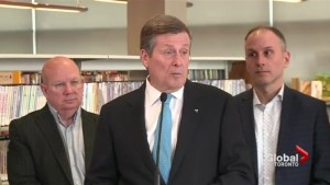 Mayor John Tory announces plans to take pressure off businesses during Eglinton Crosstown construction
