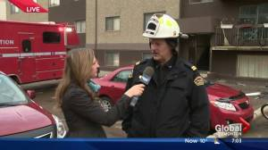 Person found dead after apartment building fire in central Edmonton