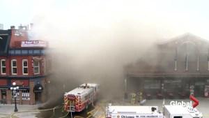 Ottawa firefighters battle Byward market blaze