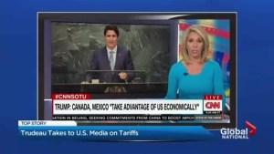 Justin Trudeau, Chrystia Freeland talk tariffs on U.S. political shows