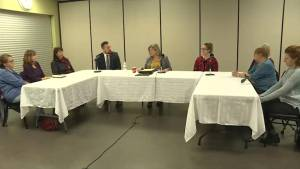 Andrea Horwath hosts a roundtable in Kingston to discuss doctor shortages