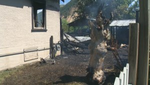 Lumby Fire Department is trying to determine what caused a house to go up in flames Wednesday morning