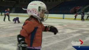 Oilers fans say goodbye to Rexall Place by gliding on ice