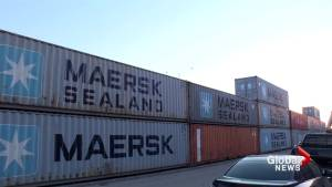 Montreal residents endure shipping container sound wall