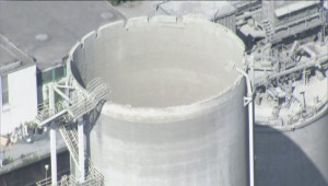 Cement silo roof collapses in Richmond