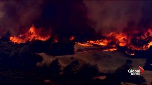 Raging California wildfires force evacuations