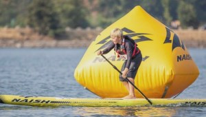An eight-year-old boy from Victoria nearly comes in first at stand up paddleboarding competition