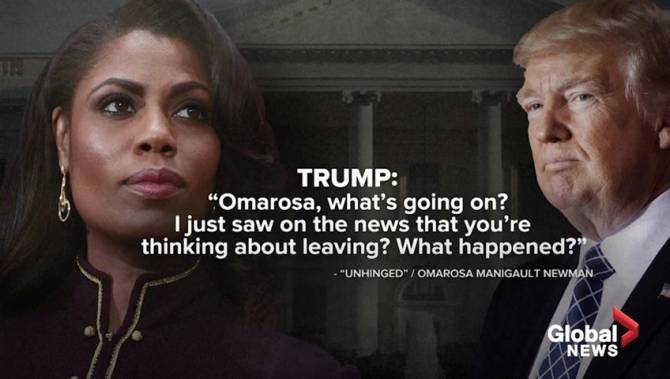National security experts, Trump allies outraged by Omarosa recordings - National | Globalnews.ca