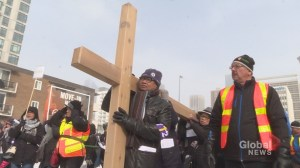 Calgary's bishop includes prayers for Indigenous Canadians during annual Way of the Cross