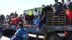 Migrants splinter off from caravan en route to the U.S.