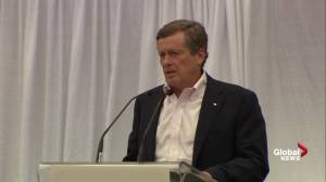 John Tory acknowledges protesters at opening of CNE