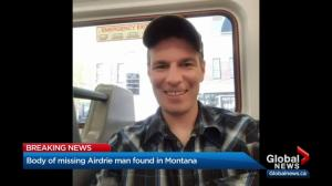 Body of missing Airdrie man found in Montana