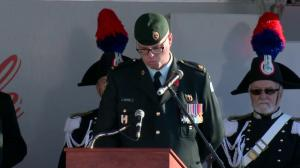 Canada Remembers: In Flanders Fields is read at the Calgary Military Museum