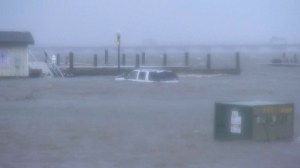 Hurricane Florence: Car submerged, boat left drifting as storm batters North Carolina