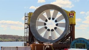 Cape Sharp tidal turbines almost ready to be deployed to Bay of Fundy