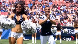 First male cheerleaders for Los Angeles Rams head to Super Bowl