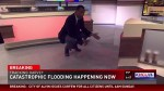 Houston news station flooded on air during heavy rainfall