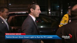 Patrick Brown cleared to run for Ontario PC Party leadership