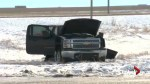 Crash involving stolen truck sends 5 people to hospital: Coaldale RCMP