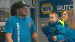 Edmonton family with son battling leukemia gifted vehicle