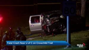 Fatal crash on Crowchild Trail Monday