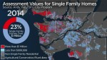 In this map, Metro Vancouver turns red with $1-million single-family homes