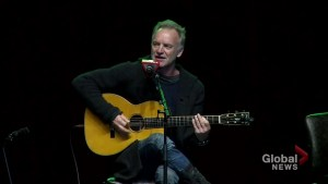 Sting and the cast of 'The Last Ship' perform for GM workers