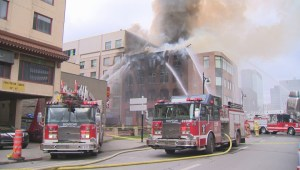 Historic fire-ravaged building in Montreal's Chinatown demolished