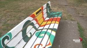 Park Board to remove newly painted memorial bench