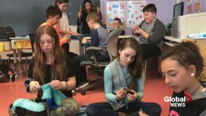 Knitting helps kids at Terry Fox Elementary