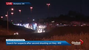 Peel police concerned about similar shootings on Hwy. 410 a week apart