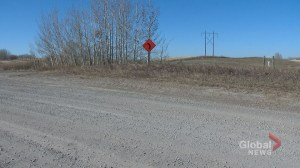 Warning sign put on rural Calgary-area road where teen died in crash