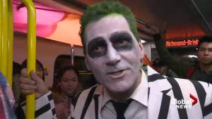 Halloween party takes over SkyTrain