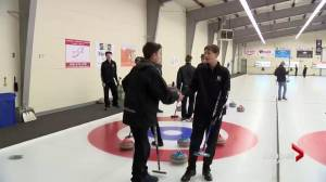 Saskatoon High School Huddle: curling action
