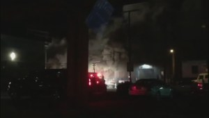 East Vancouver fire sends flames shooting out of warehouse